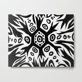 Cellular neuron eye black and white Metal Print