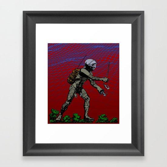 In Martian Fields Framed Art Print