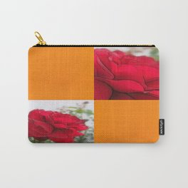 Red Rose Edges Blank Q8F0 Carry-All Pouch