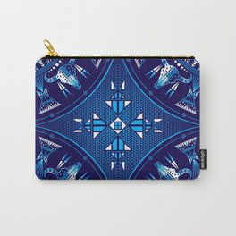 buffalo Gathering blue Carry-All Pouch