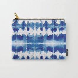 Shibori Tie Dye Indigo Blue Carry-All Pouch