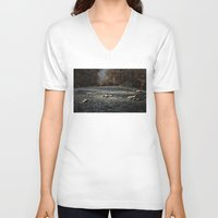 road V-neck T-shirts featuring Road by Jesús M.Chamizo