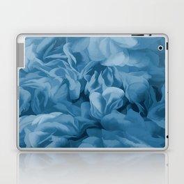 Midnight Blue Petal Ruffle Abstract Laptop & iPad Skin