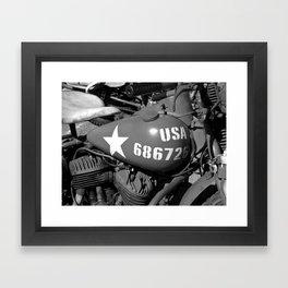 US army Motorcycle.  Framed Art Print