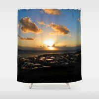 ireland Shower Curtains featuring Lahinch, Ireland by American Artist Bobby B