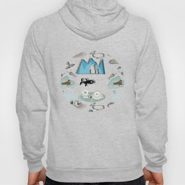 Arctic animals teal Hoody