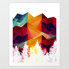 Forest made of color Art Print