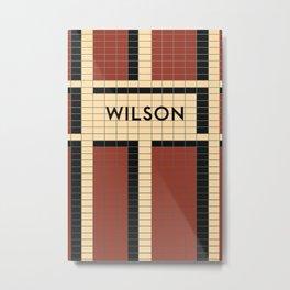 WILSON | Subway Station Metal Print