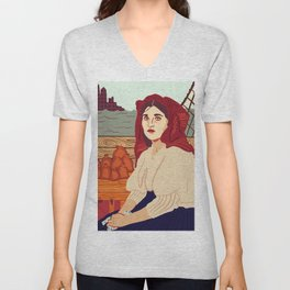 A Better Life, Italian Immigrant Woman Unisex V-Neck