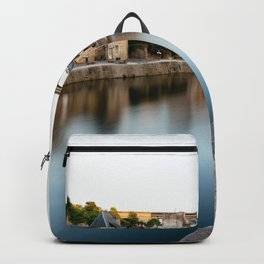 The Habour of  Dinan in France Backpack
