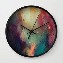 Galactic Watercolor Wall Clock