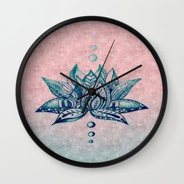 Intricate Lotus Wall Clock