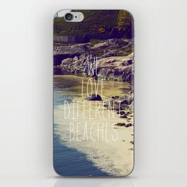 We love Different Beaches iPhone Skin