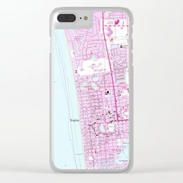 Vintage Map of Naples Florida (1958) Clear iPhone Case