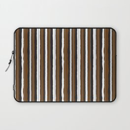 Chocolate Bar Jiggle Stripes Laptop Sleeve