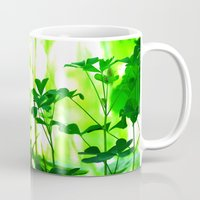 clover Mugs featuring Clover by Bella Mahri-PhotoArt By Tina