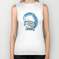 finding nemo Biker Tanks featuring just keep swimming.. finding nemo by studiomarshallarts