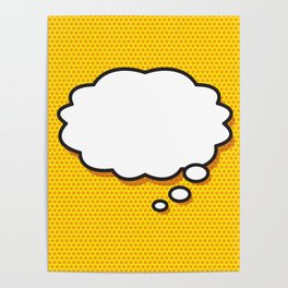 Comic Book THINK Poster