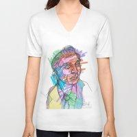 gentleman V-neck T-shirts featuring Gentleman by Belovediesel