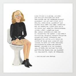 Gloria Steinem Art Print
