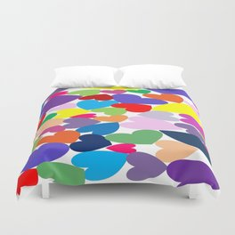 Random hearts Duvet Cover
