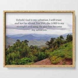 Isaiah 12:2 Serving Tray
