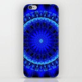 Mandala blue force iPhone Skin