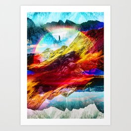 The girl from the Liquid World Art Print