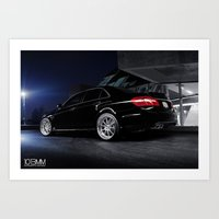 mercedes Art Prints featuring Mercedes Benz C63 AMG by 1013MM