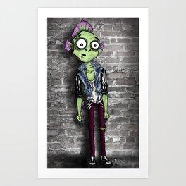 Scaly Fish Punk Art Print
