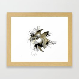 Spoted eye Fish Framed Art Print