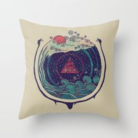 water Throw Pillows featuring Water by Hector Mansilla