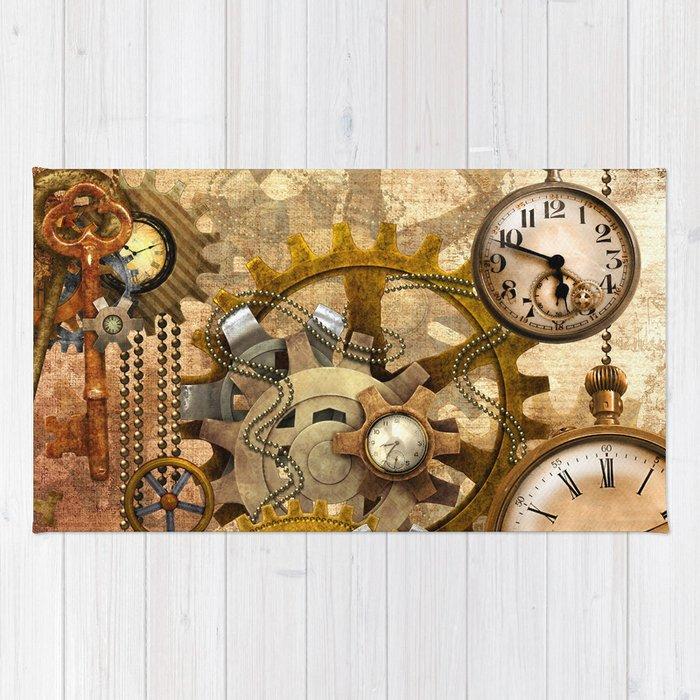 steampunk rug by ancello | society6