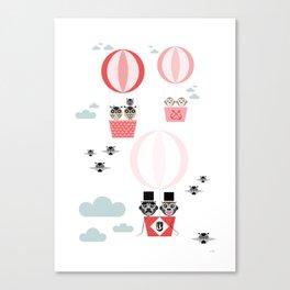 Ballonger rosa Canvas Print