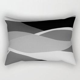 Gray and Pewter Waves Rectangular Pillow