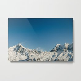 Snowy Mountains Chamonix Metal Print