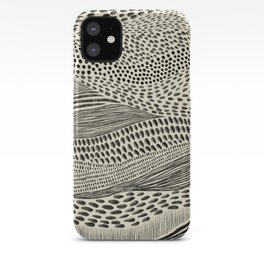 Hand Drawn Patterned Abstract II iPhone Case