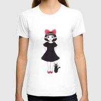 kiki T-shirts featuring Kiki and Jiji by Wondering Lolita by Naeema Krishna