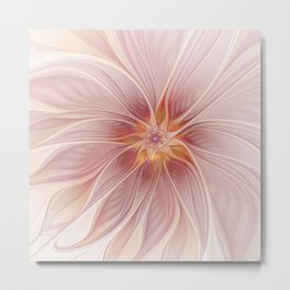 Soft Summer Dream, Fantasy Flower Metal Print