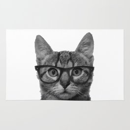 Brainy Cat Rug