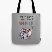 wine Tote Bags featuring Wine by Artysmedia