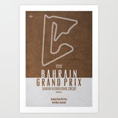 2013 Bahrain Grand Prix Art Print