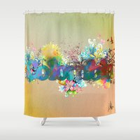 colombia Shower Curtains featuring Colombia by LinaG