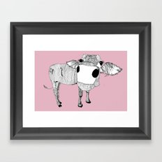 Cowface Framed Art Print