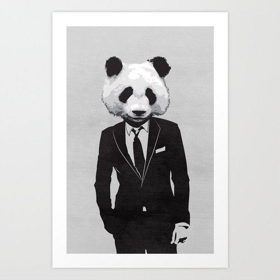 Panda Suit Art Print