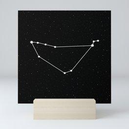 Capricorn Star Sign Night Sky Mini Art Print
