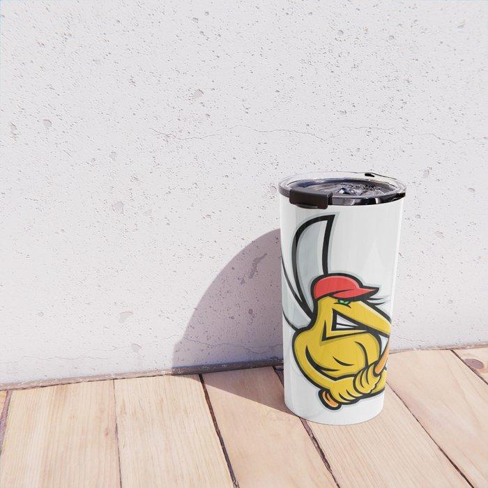 Mosquito Baseball Mascot Travel Mug