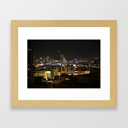 Downtown San Francisco on a late winter night Framed Art Print