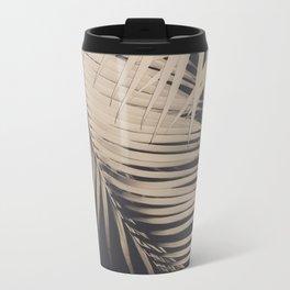 Palm Leaves Sepia Vibes #1 #tropical #decor #art #society6 Metal Travel Mug