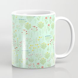 Botanical Garden - Aqua & Green #pattern #floral Coffee Mug